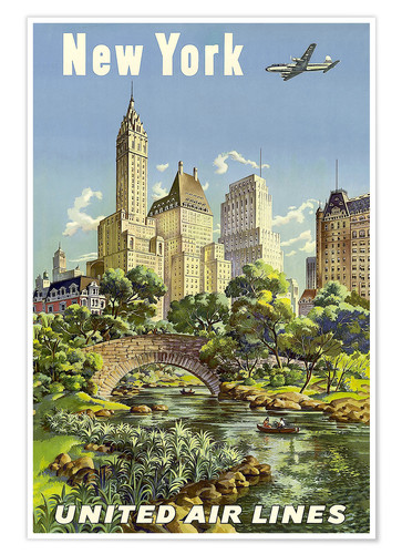 Premium poster New York United Airlines