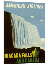 Foam board print  American Airlines Niagara Falls and Canada - Travel Collection