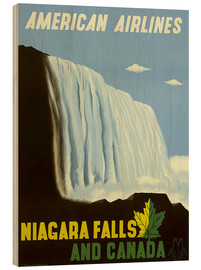 Wood print  American Airlines Niagara Falls and Canada - Travel Collection