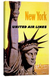 Canvas  New York United Air Lines