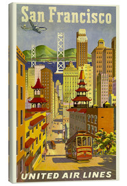 Canvas print  United Airlines, San Francisco - Travel Collection