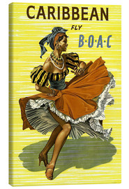 Canvas print  Caribbean Fly BOAC - Travel Collection