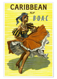 Premium poster  Caribbean Fly BOAC - Travel Collection