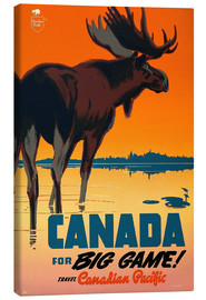 Canvas print  Canada travel for big game