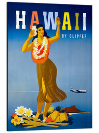 Aluminium print  Hawaii by Clipper vintage travel - Travel Collection