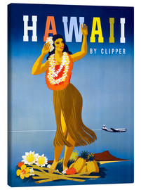 Canvas  Hawaii by Clipper vintage travel