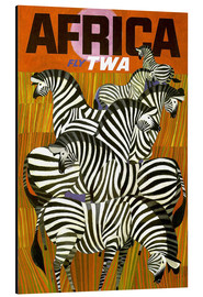 Aluminium print  Africa Fly TWA - Travel Collection