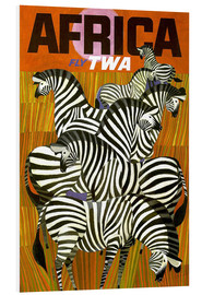 Foam board print  Africa Fly TWA - Travel Collection