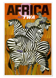 Premium poster  Africa Fly TWA - Travel Collection