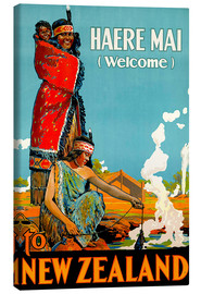 Canvas print  Haere Mai welcome to New Zealand