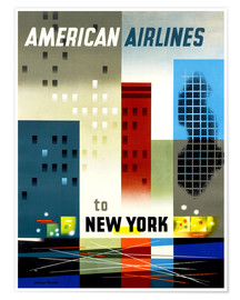 Poster  American Airlines to New York