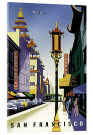 Acrylic print  United Air Lines San Francisco - Travel Collection