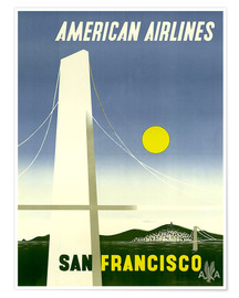 Premium poster  American Airlines San Francisco - Travel Collection