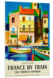 Foam board print  France by train - Travel Collection