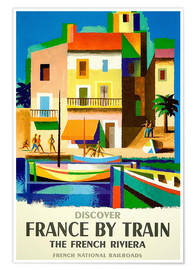 Premium poster  France by train - Travel Collection