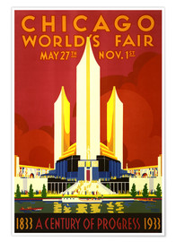 Premium poster  Chicago worlds fair - Travel Collection