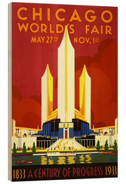 Wood print  Chicago worlds fair - Travel Collection
