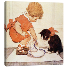 Canvas print  A Little Childs Book of Stories 2 - Jessie Willcox Smith