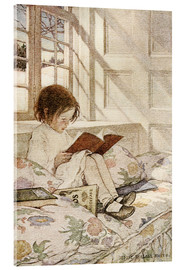Acrylic print  Picture books in winter - Jessie Willcox Smith