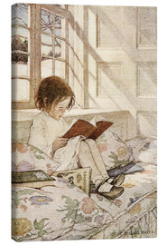Canvas print  Picture books in winter - Jessie Willcox Smith