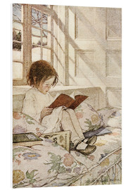 Foam board print  Picture books in winter - Jessie Willcox Smith