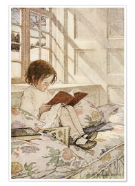 Premium poster  Picture books in winter - Jessie Willcox Smith