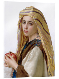 Acrylic print  Girl with a pomegranate - William Adolphe Bouguereau