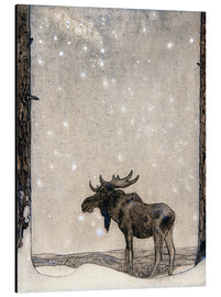 Aluminium print  Elk in the Snow - John Bauer