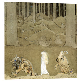 Acrylic print  The Princess and the Trolls - John Bauer