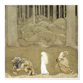 Premium poster  The Princess and the Trolls - John Bauer