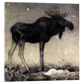 Acrylic print  Moose Skutt and Princess Tuvstarr - John Bauer