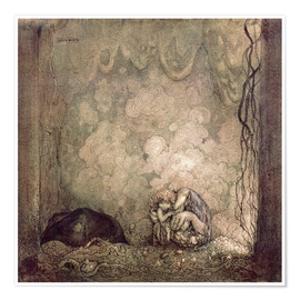 Premium poster  A Mother's love - John Bauer