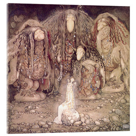 Acrylic print  The shining princess - John Bauer