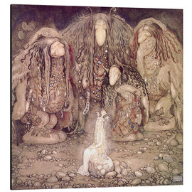 Aluminium print  The shining princess - John Bauer