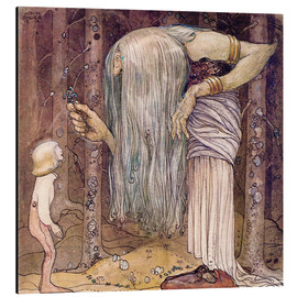 Aluminium print  The magic herb - John Bauer