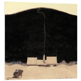 Foam board print  The House at the foot of the Mountain - John Bauer