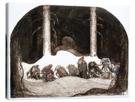 Canvas print  In the christmas night - John Bauer