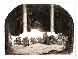 Premium poster  In the christmas night - John Bauer