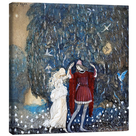 Canvas print  Lena dances with the knight - John Bauer