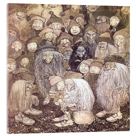 Acrylic print  The trolls and the gnome boy - John Bauer