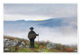 Premium poster  Far, far away Soria Moria Palace shimmered like Gold - Theodor Kittelsen
