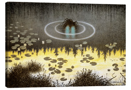 Canvas print  Nøkken, The Monster of the Lake - Theodor Kittelsen