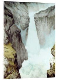 Acrylic print  At the waterfall - Theodor Kittelsen