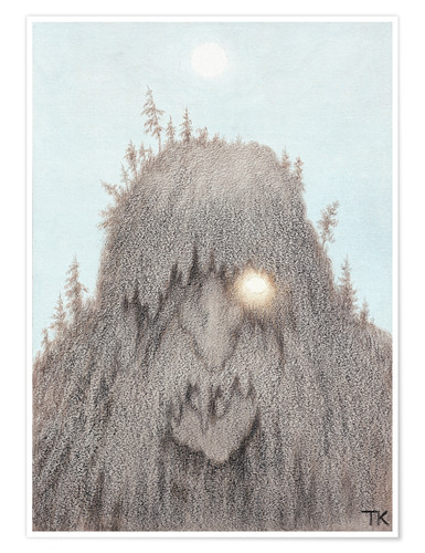 Premium poster Forest Troll