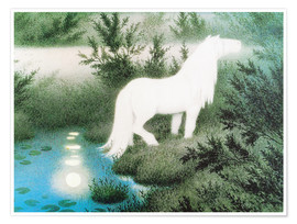 Premium poster The Nix as a white horse