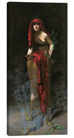 Canvas print  Priestess of Delphi - John Collier