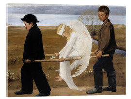 Acrylic glass  The Wounded Angel - Hugo Simbert