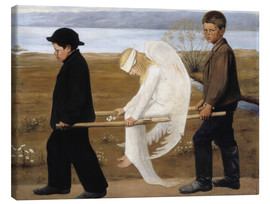 Canvas print  The wounded angel - Hugo Simbert
