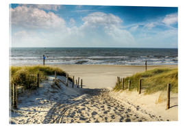 Acrylic print  Path through the dunes to the beach - Peter Roder