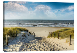 Canvas  Path through the dunes to the beach - Peter Roder